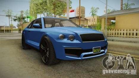 GTA 5 Enus Huntley Coupè для GTA San Andreas вид сзади слева