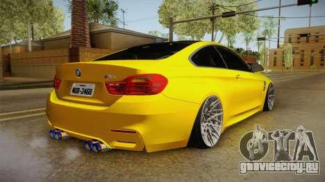 BMW M4 F82 Stance для GTA San Andreas вид слева