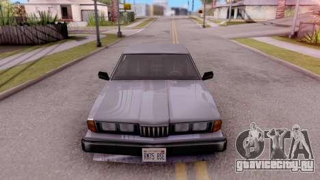 VCS Sentinel для GTA San Andreas вид изнутри