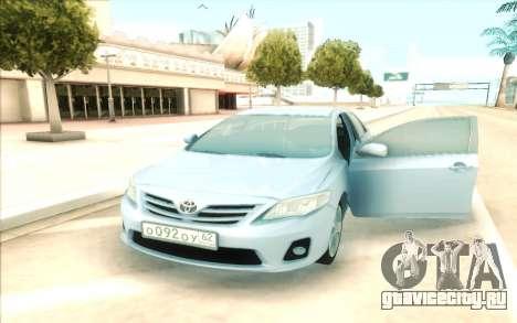 Toyota Corolla E150 для GTA San Andreas вид сзади