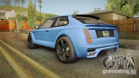 GTA 5 Enus Huntley Coupè для GTA San Andreas вид справа