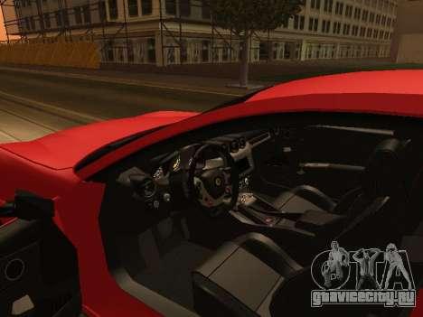 Ferrari FF 2012 Armenian для GTA San Andreas вид сверху