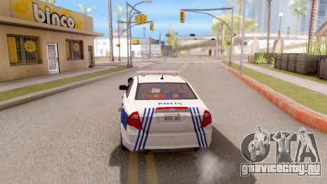Ford Fusion 2011 Turkish Police для GTA San Andreas вид сзади слева