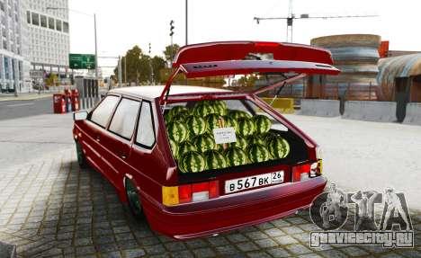 ВАЗ 2114 Продавец Арбузов для GTA 4 вид сзади слева