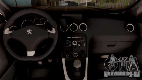 Peugeot 308 Policija для GTA San Andreas вид изнутри