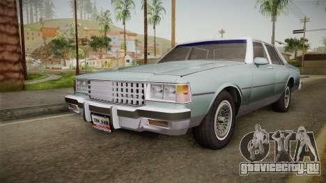 Chevrolet Caprice 1985 Stock для GTA San Andreas