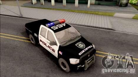 Dodge Ram High Speed Police для GTA San Andreas вид справа