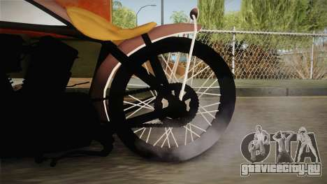 Harley-Davidson V Twin Racer 1916 для GTA San Andreas вид сзади