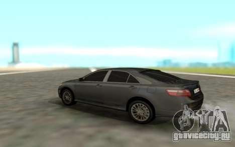 Toyota Camry Sport для GTA San Andreas вид сзади слева