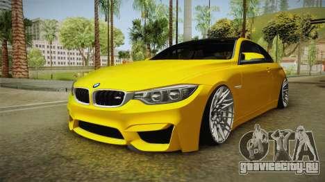 BMW M4 F82 Stance для GTA San Andreas вид справа