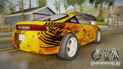 Mitsubishi Eclipse Itasha Car G41 для GTA San Andreas вид сзади слева