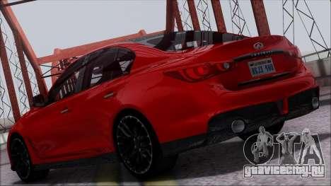 Infinity Q50 для GTA San Andreas вид справа