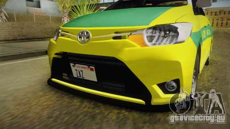 Toyota Vios Sturdy Philippine Taxi 2014 для GTA San Andreas вид сверху