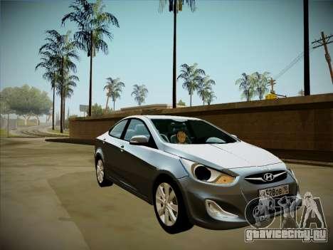 Hyundai Solaris Karelian Edition для GTA San Andreas салон