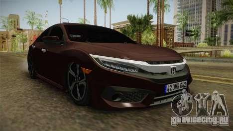 Honda Civic 2017 FC5 для GTA San Andreas вид справа