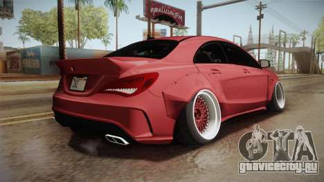Mercedes-Benz CLA 45 AMG WideBody 2014 для GTA San Andreas вид слева