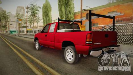 Chevrolet Silverado Work Truck 2001 для GTA San Andreas вид слева