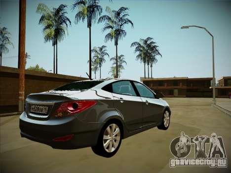 Hyundai Solaris Karelian Edition для GTA San Andreas вид справа