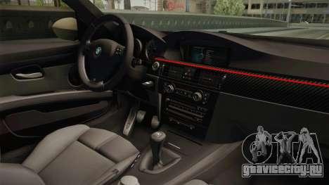 BMW M3 E92 2012 Itasha PJ для GTA San Andreas вид изнутри