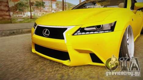 Lexus GS350 F Sport IV Slammed 2013 для GTA San Andreas вид сбоку