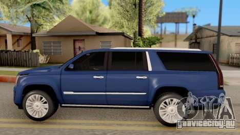Cadillac Escalade Long Platinum 2016 для GTA San Andreas вид слева