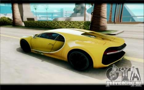 Bugatti Chiron для GTA San Andreas вид слева