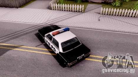 Admiral LVPD для GTA San Andreas вид сзади