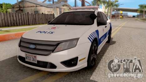 Ford Fusion 2011 Turkish Police для GTA San Andreas