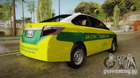 Toyota Vios Sturdy Philippine Taxi 2014 для GTA San Andreas вид справа