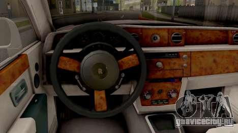 Rolls-Royce Phantom (VII) для GTA San Andreas вид изнутри