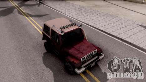 Mesa Off-Road для GTA San Andreas вид справа
