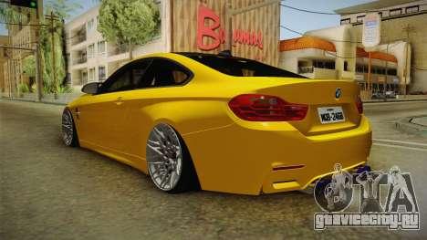BMW M4 F82 Stance для GTA San Andreas вид сзади слева