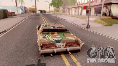 New Paintjob for Remington v3 для GTA San Andreas вид сзади слева