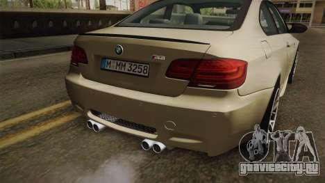 BMW M3 E92 2012 Itasha PJ для GTA San Andreas вид снизу