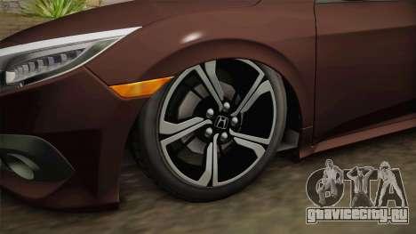 Honda Civic 2017 FC5 для GTA San Andreas вид сзади