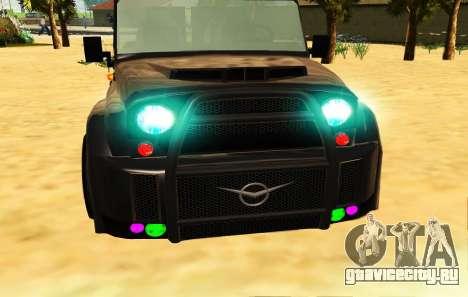 Новый цвет фар для GTA San Andreas