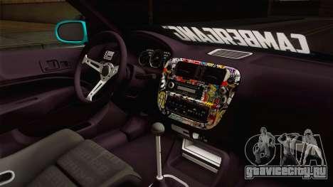 Honda Civic Hatchback для GTA San Andreas вид изнутри
