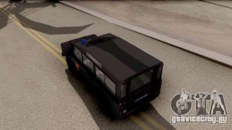 Land Rover Defender Žandarmerija для GTA San Andreas вид сзади