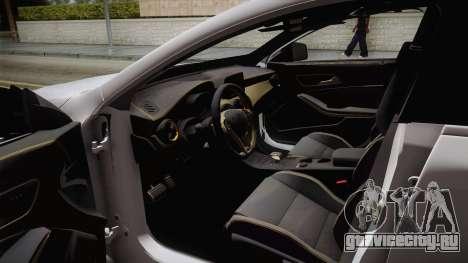 Mercedes-Benz CLA45 AMG 2017 для GTA San Andreas вид изнутри