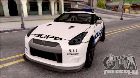 Nissan GT-R 2013 High Speed Police для GTA San Andreas