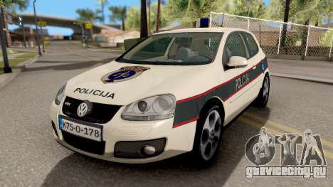 Volkswagen Golf V BIH Police Car V2 для GTA San Andreas