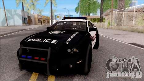 Ford Mustang GT High Speed Police для GTA San Andreas