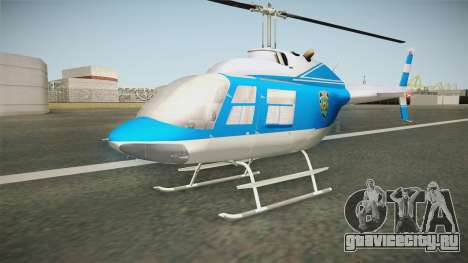 Bell 206 NYPD Helicopter для GTA San Andreas вид справа