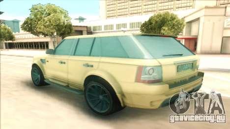 Range Rover Arden Design для GTA San Andreas вид сзади слева
