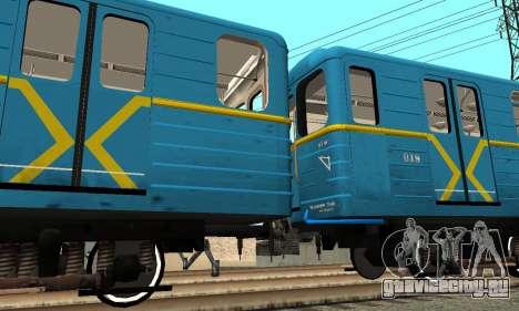Метросостав типа Ем Киевский для GTA San Andreas вид изнутри