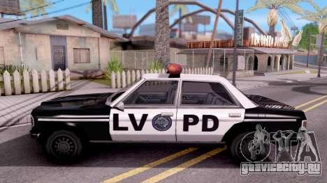 Admiral LVPD для GTA San Andreas вид слева