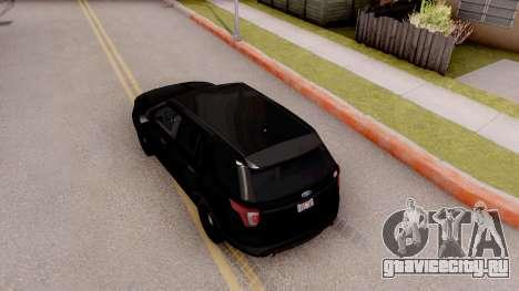 Ford Explorer FBI для GTA San Andreas вид сзади