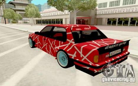 BMW E30 для GTA San Andreas вид сзади слева