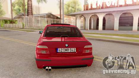 BMW M5 E39 MPOWER для GTA San Andreas вид сзади слева