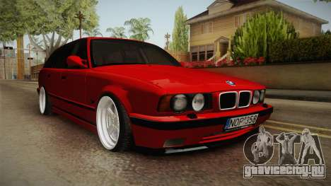 BMW 5 Series E34 Touring Stance для GTA San Andreas